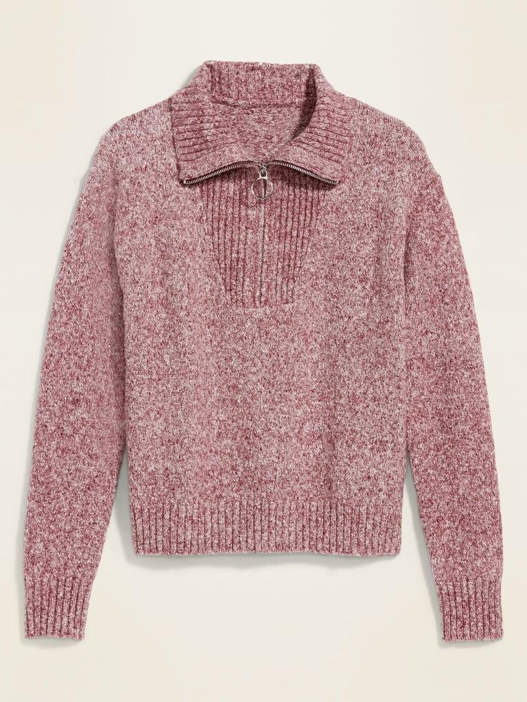 Old Navy Mock-Neck 1/4-Zip Sweater