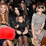 Beyoncé, Kim Kardashian, North West, and Anna Wintour at NYFW