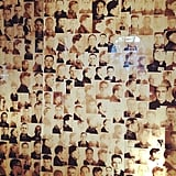 Mug shots look really cool when collaged on a backlit wall.