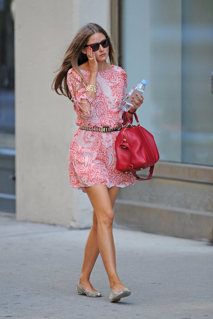 The Ultimate In High Low Street Style Pairing A Printed Asos Dress Olivia Palermo 39 S Style