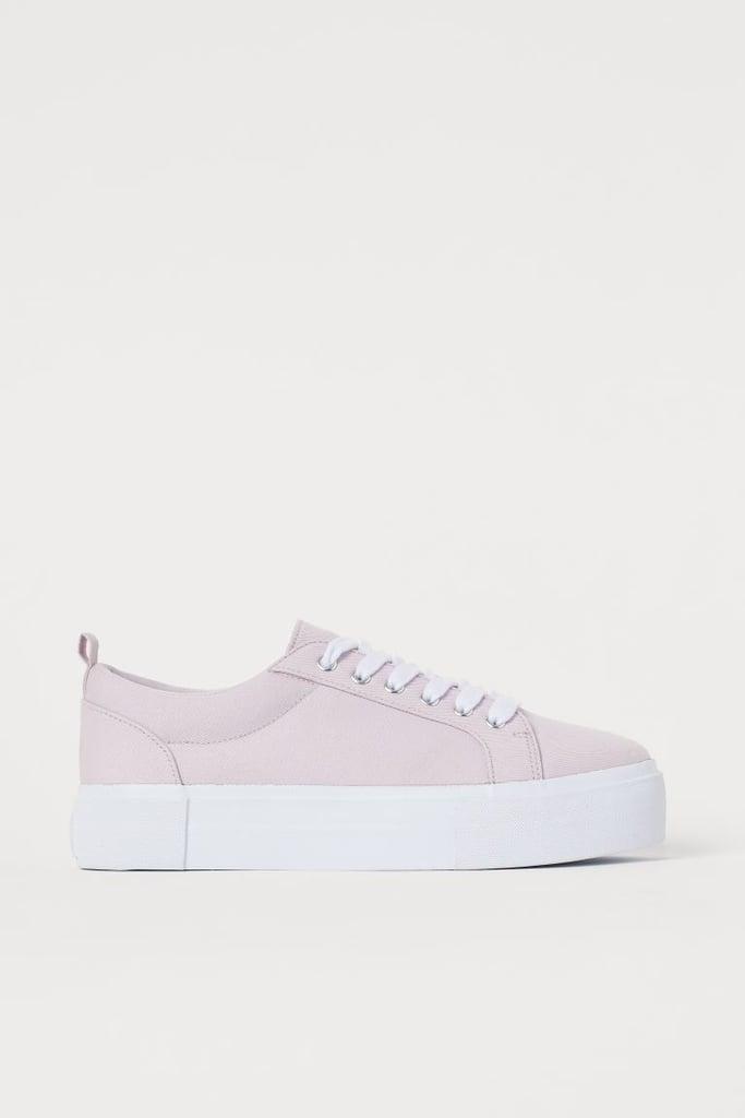 h&m platform sneakers black