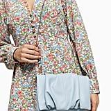 Topshop RUBY Blue Ruched Clutch Bag