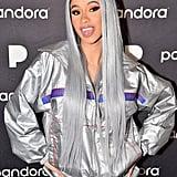Cardi B's Silver Wig