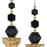 House of Harlow 1960 Black Hexagon Drop Earrings ($70)