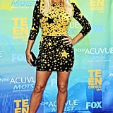 We were seeing stars when Fergie arrived at the Teen Choice Awards in 2011 — she wore a long-sleeved, star-print mini dress from Dolce & Gabbana's much-loved Fall '11 collection, and paired it with Christian Louboutin pumps.