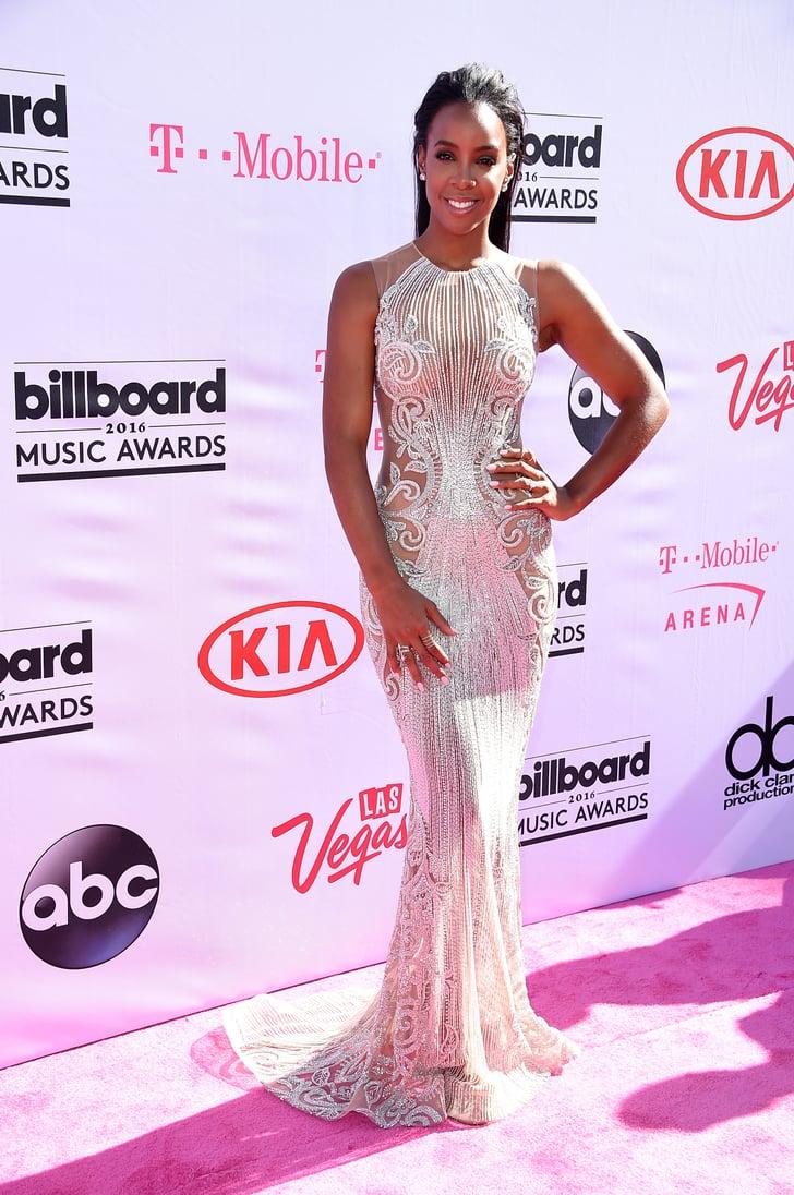 Kelly Rowland Billboard Music Awards Red Carpet Dresses