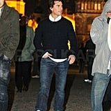 Pictures of Tom Cruise Sightseeing in Prague