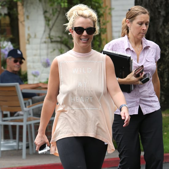 Britney Spears Wearing Wild at Heart Shirt