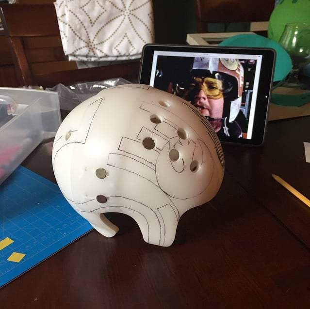 Jack's Final Helmet in Progress