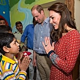 16: Months since the last royal tour, which brought the royal couple to NYC in December 2014.  18: Number of total public outfit changes for Kate Middleton.     24: Years since Princess Diana herself sat for a photo in front of the Taj Mahal, during her famous solo visit in 1992.