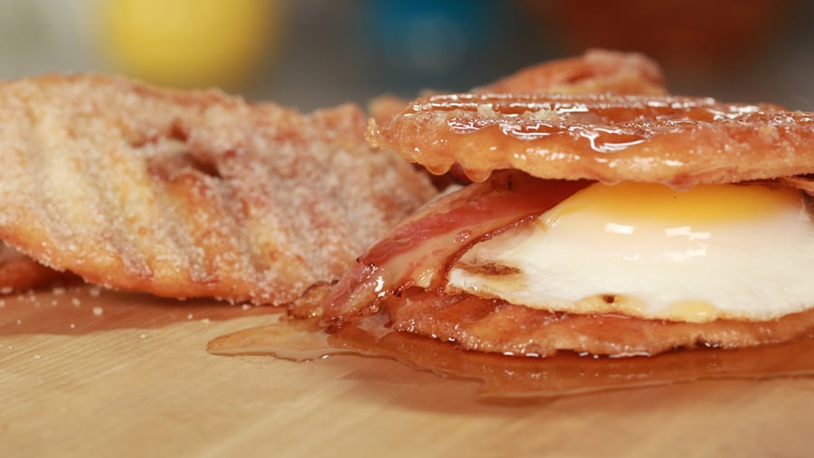 Doughnut Chip Breakfast Sandwich