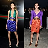 Gucci's Spring 2011 versions of the trend were a favorite on the red carpet and fashion magazine covers. Chanel Iman (left) and Charlotte Casiraghi (right) both appeared in different versions of the collection's skin-baring frocks earlier this year.