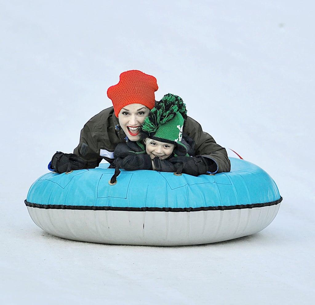 Gwen and Gavin Take Kingston and Zuma on a Skiing Adventure!