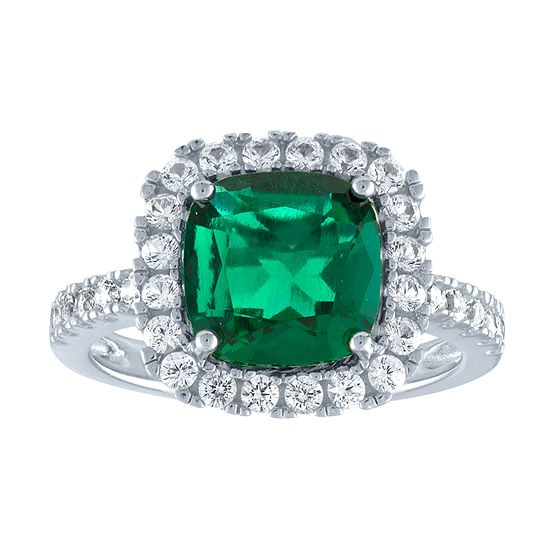 d5e44489b1b57 JCPenney Lab-Created Green Emerald & Lab-Created White Sapphire ...