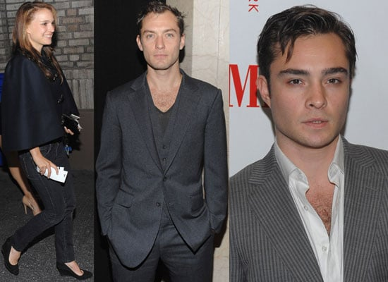Gallery of Pictures of Jude Law, Natalie Portman and Ed Westwick At Hamlet Opening Night On Broadway, New York