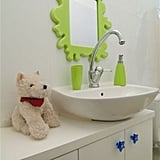 totally chic kids bathroom kid friendly bathroom upgrade - Bathroom Decorating Ideas For Kids