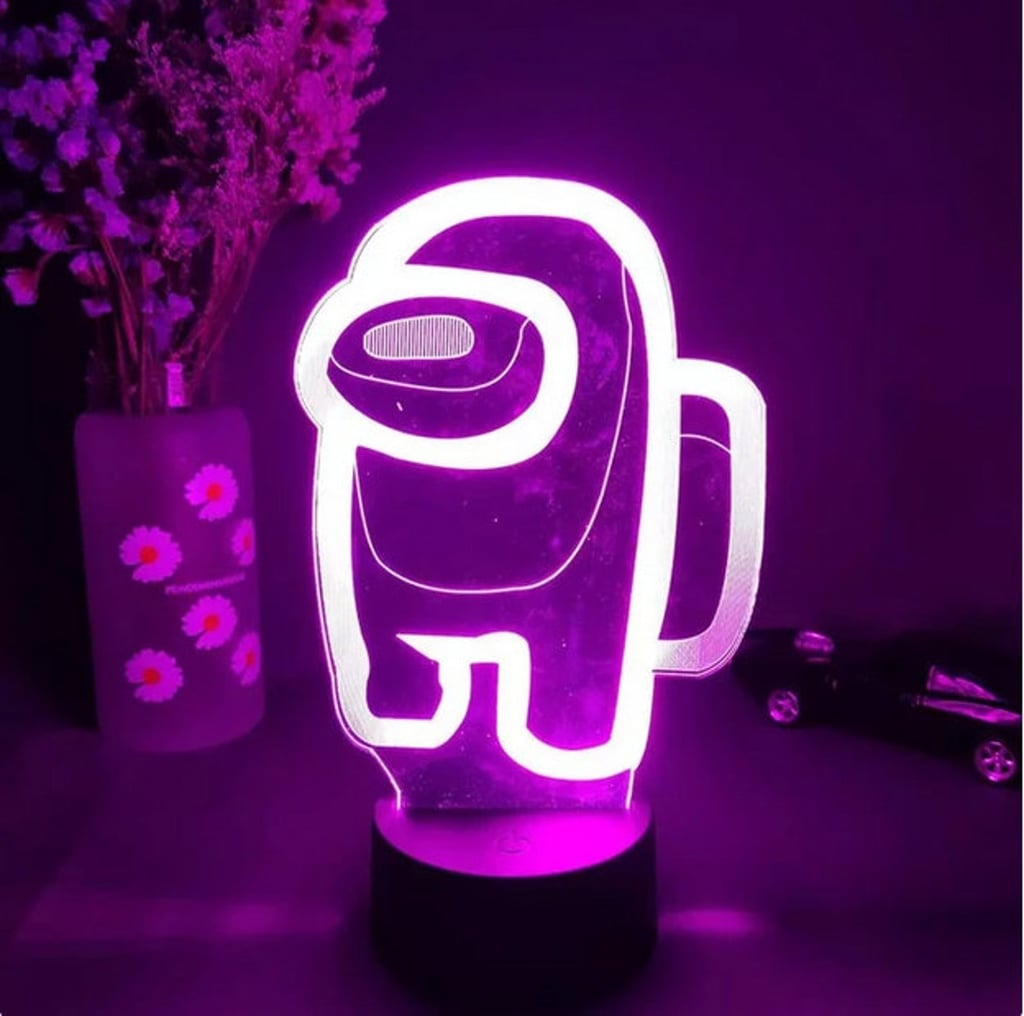 Among Us Impostor Desk Lamp and Crewmate Night Light