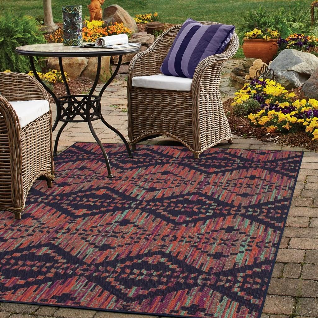 Color Mix-Stripe Outdoor Rug