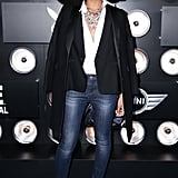 Solange Knowles at the Playboy Super Bowl party.