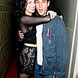 Adam Sandler kept Sandra cracking up backstage at the MTV's September 1994 Video Music Awards held in NYC.