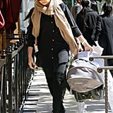 Charlize Theron went to lunch in Beverly Hills.