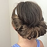 Hair-Tucked Updo With Braids