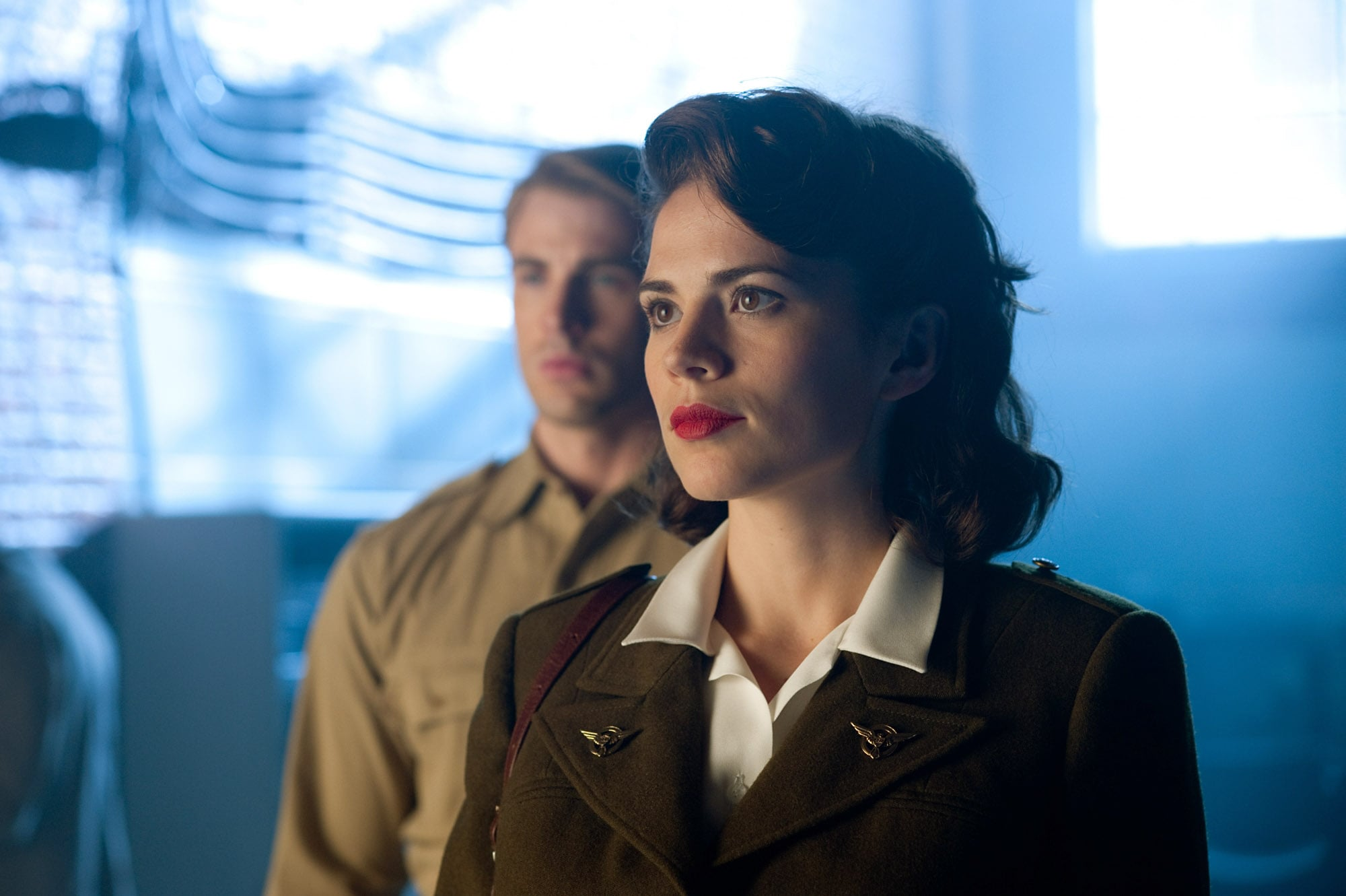 CAPTAIN AMERICA: THE FIRST AVENGER, Hayley Atwell, 2011. Ph: Jay Maidment/Marvel Studios2011 MVLFFLLC. TM &2011 Marvel. All Rights Reserved./Paramount Pictures/Courtesy Everett Collection