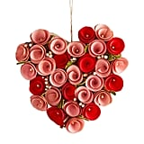 Red and Pink Wood Curl Heart Decor