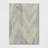 Tufted Wool Abstract Chevon Area Rug