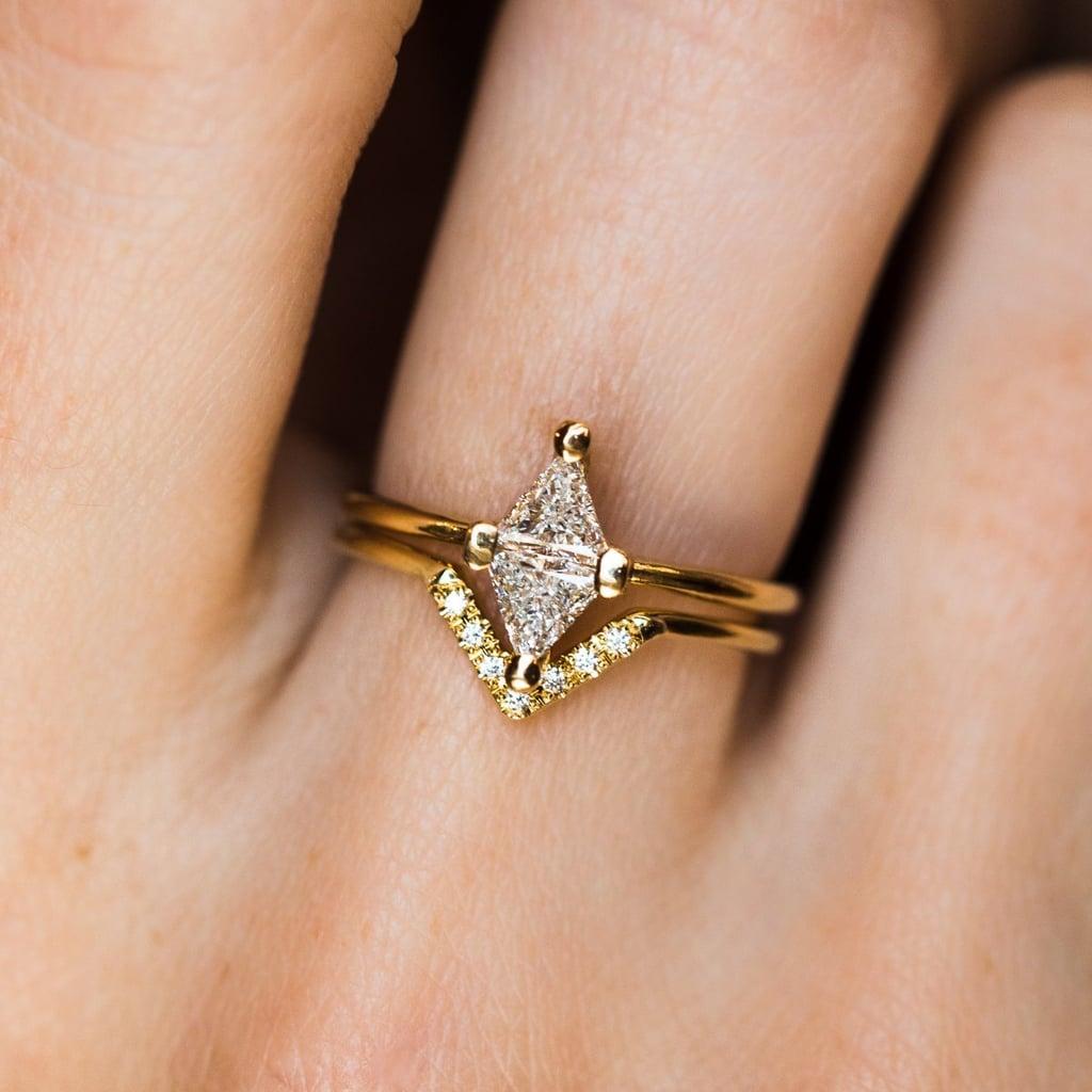 Diamond Rhombus Wedding Set