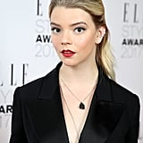 Anya Taylor-Joy's Military Red Lips, 2017