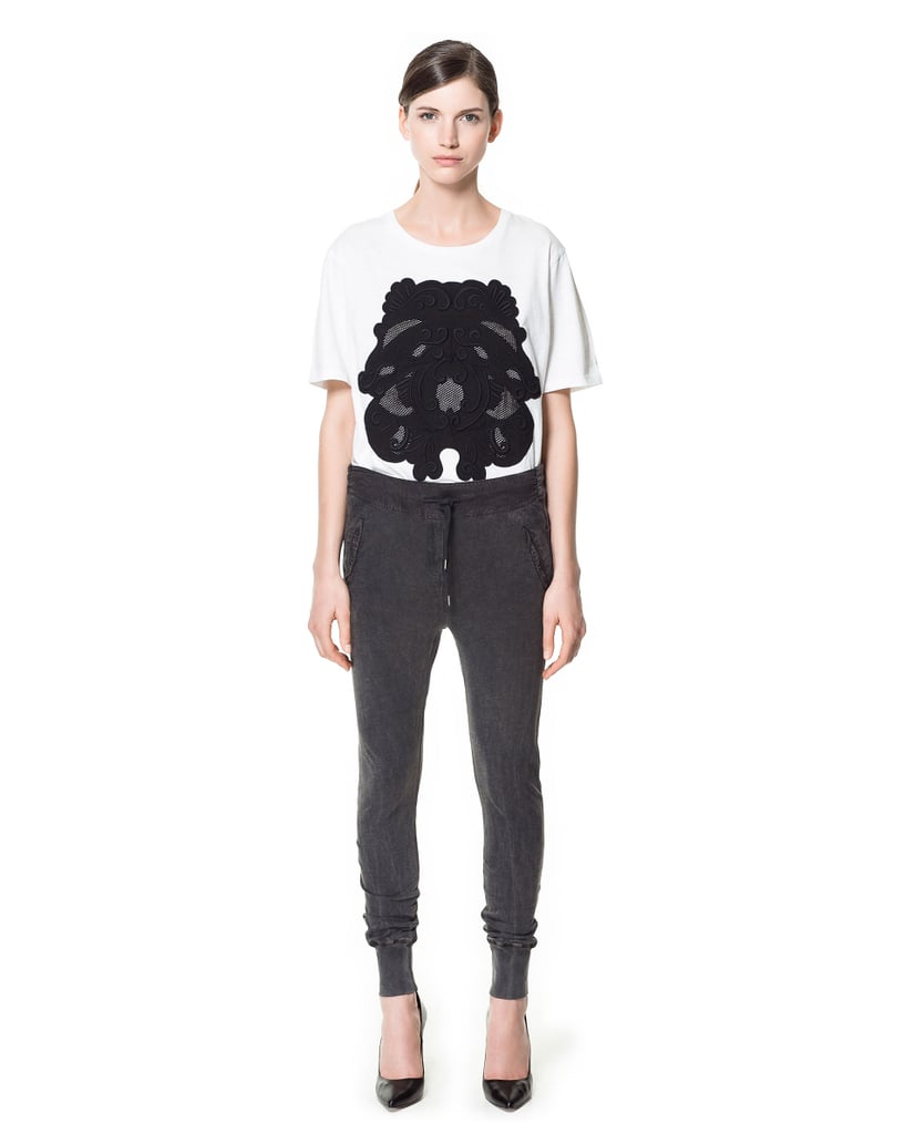 A total upgrade on your college sweats, these Zara slub knit trousers ($36) are cool enough to wear outside the house.