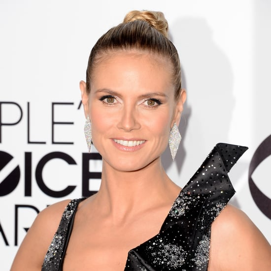 Heidi Klum Hair and Makeup at People's Choice Awards 2014