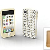New York iPhone 4/4S case with buttercream and bronze inner wraps and outer New York pattern shell.