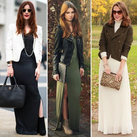 How to Wear a Maxi Dress For Winter - POPSUGAR Fashion