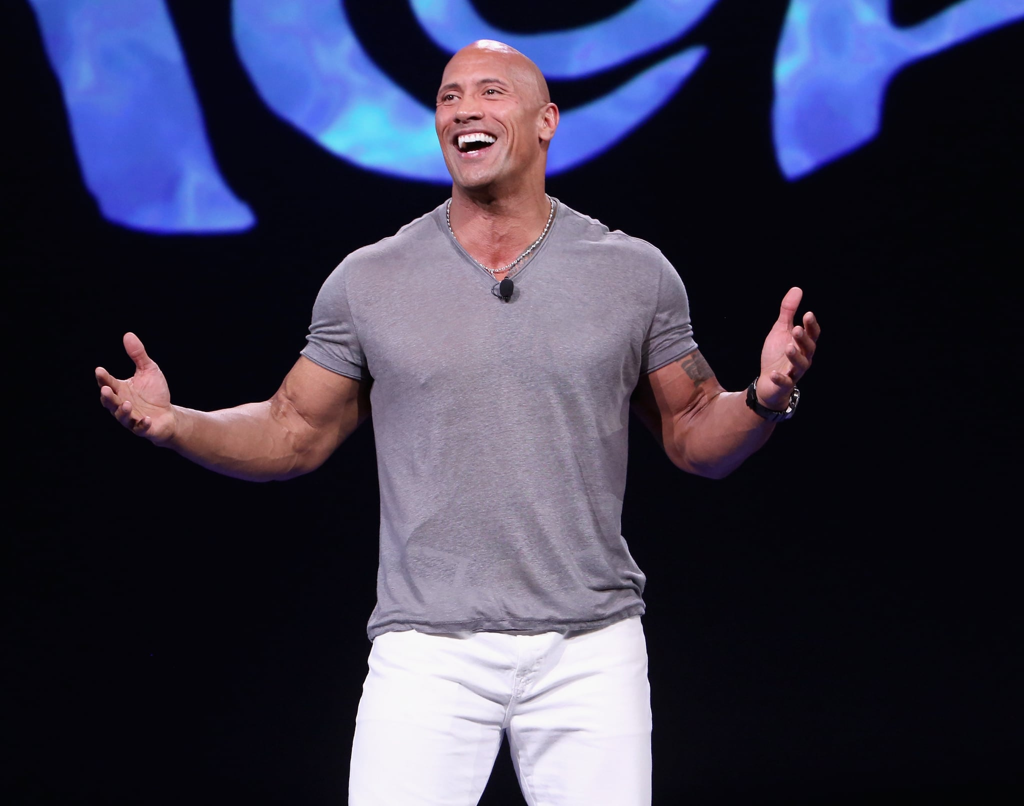 ANAHEIM, CA - AUGUST 14:  Actor Dwayne Johnson of MOANA took part today in