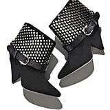 """""""Isabel Marant is bringing back her most iconic boot silhouettes to Net-a-Porter this September, and I'm in love with the studs and cone heel on the Soono style ($1,180). I'll tuck my skinny jeans into these babies and achieve Parisian flair in a simple white tee."""" — SW"""
