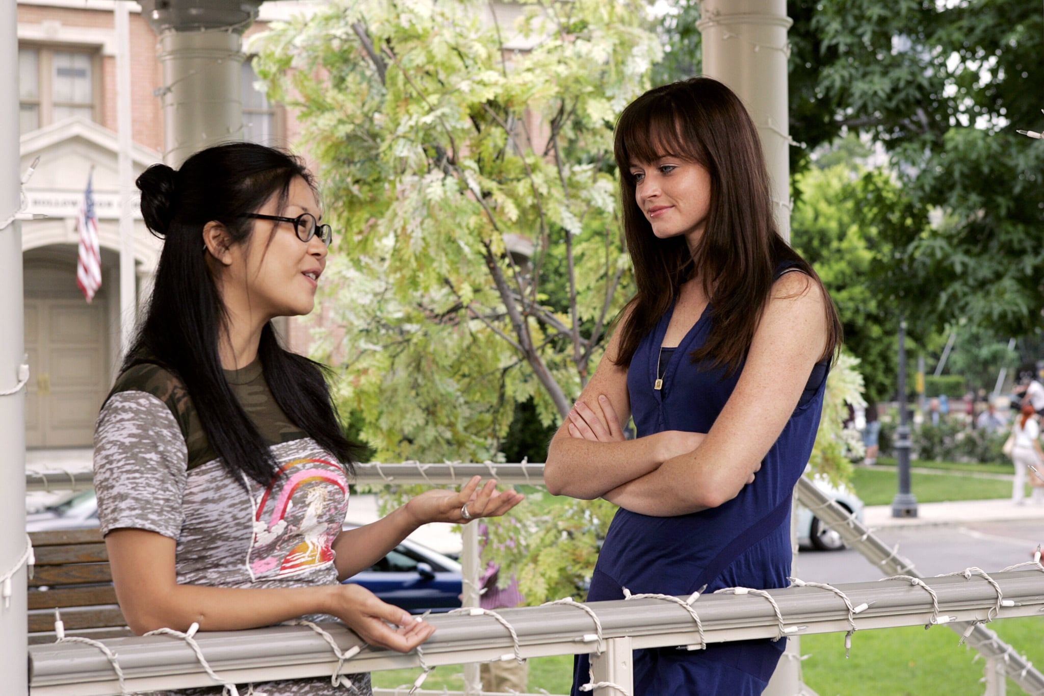 GILMORE GIRLS,  Keiko Agena, Alexis Bledel, 'That's What You Get, Folks, For Makin' Whoopee', (Season 7, October 3, 2006), 2000-2007, 2006 The CW / Courtesy Everett Collection