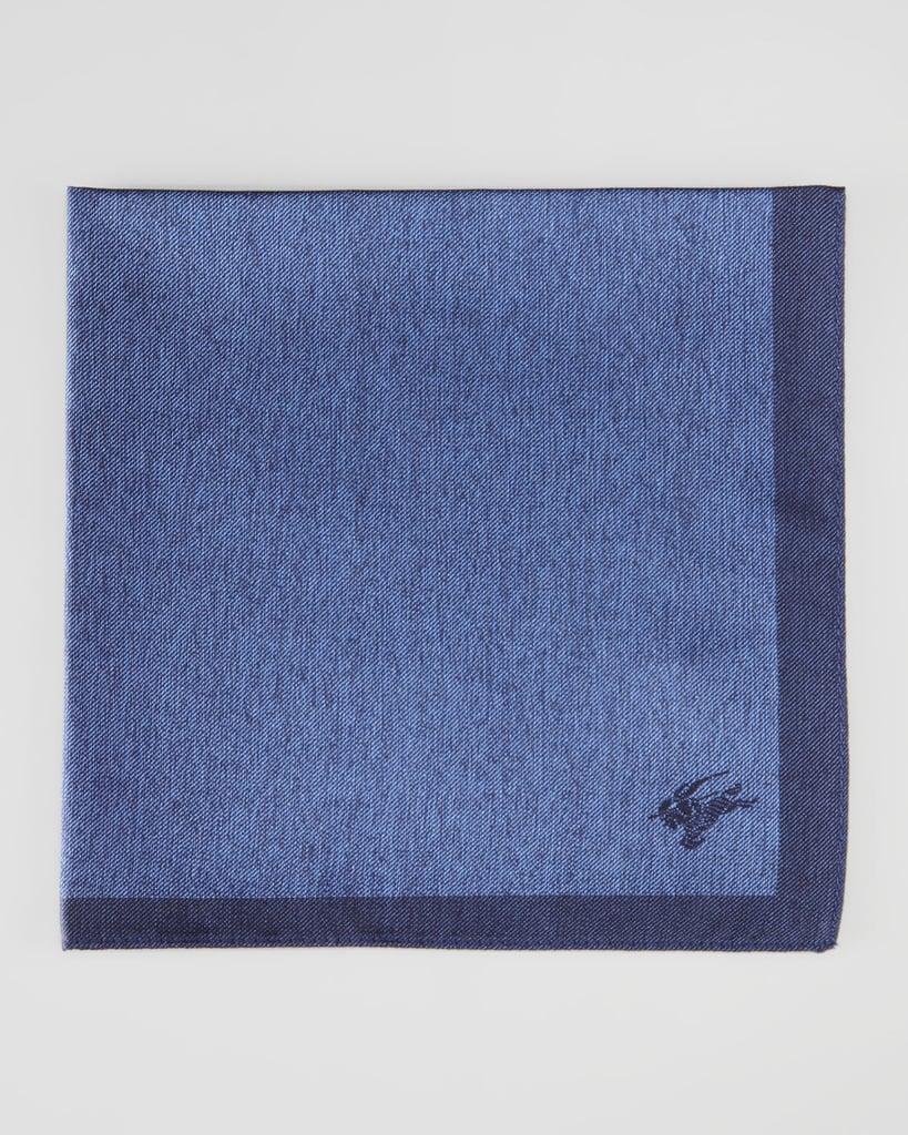 Contrast-Border Silk Pocket Square ($90)