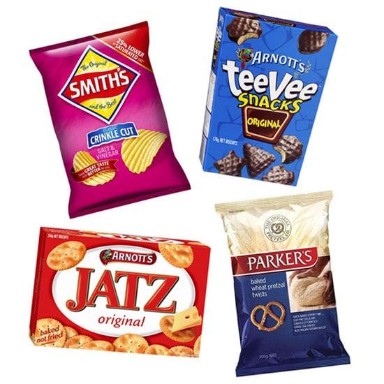 Calories In Chips Biscuits Pretzels Nuts Popsugar Fitness Australia