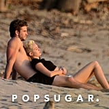 Miley Cyrus and Liam Hemsworth watched a sunset.