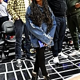 Blue Ivy Carter at the Los Angeles Lakers Game