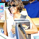 Halle Berry shopped for magazines in Malibu, CA, on Sunday.