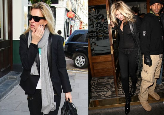 Photos of Kate Moss and Jamie Hince Leaving the Groucho Club
