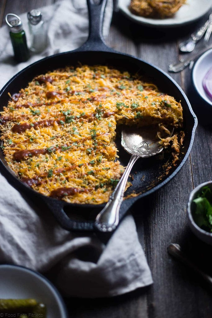 BBQ Baked Chicken Spaghetti Squash Casserole