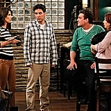 Jason Segel as Marshall, Alyson Hannigan as Lily, Josh Radnor as Ted, and Cobie Smulders as Robin on How I Met Your Mother. Photo courtesy of CBS