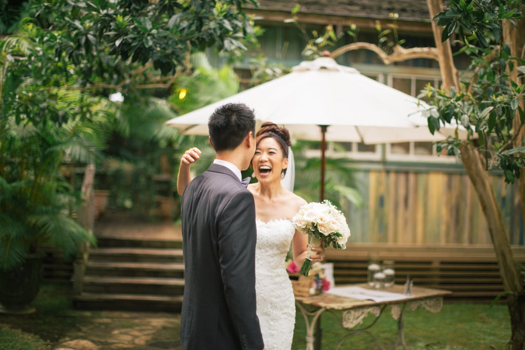 Eva and Michael invited their guests to a destination wedding on Maui, HI, at the enchanting Haiku Mill. See the wedding here!