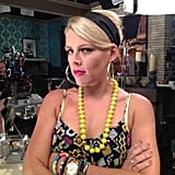 Busy Philipps mugged for her Cougar Town costar Courteney Cox. Source: Twitter user CourteneyCox