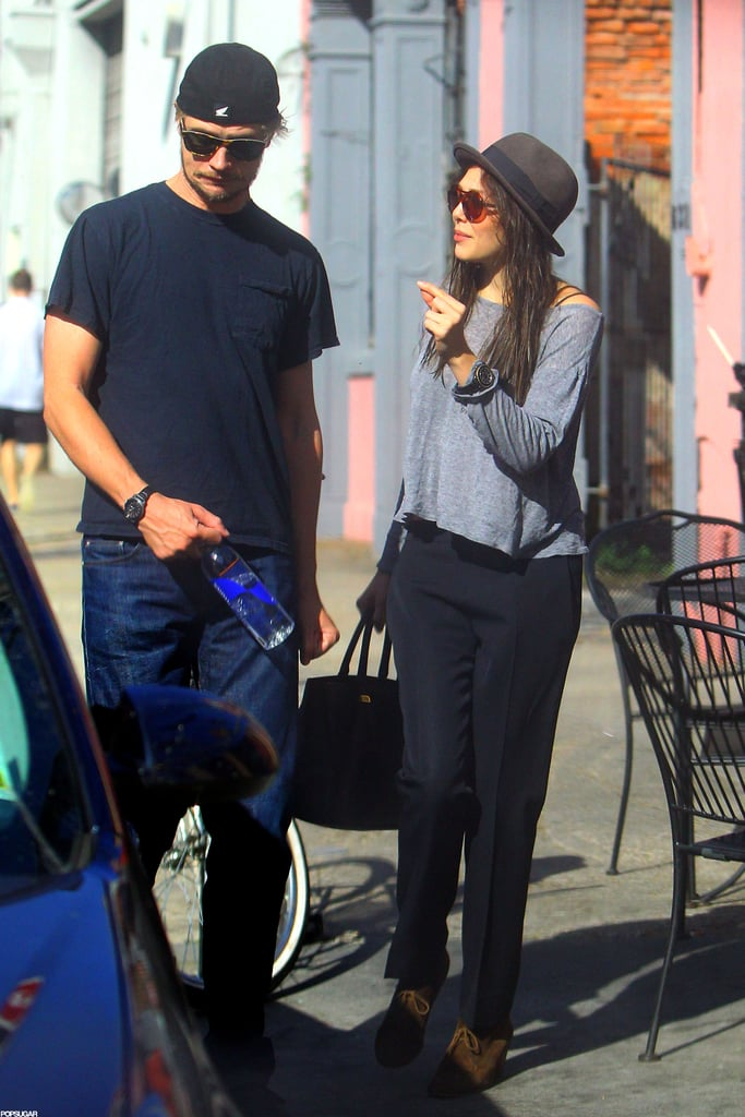 Elizabeth Olsen was spotted out with Boyd Holbrook in New Orleans.