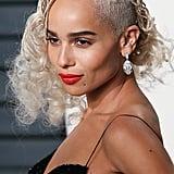 Zoe Kravitz Hair at Vanity Fair Oscars Party 2017